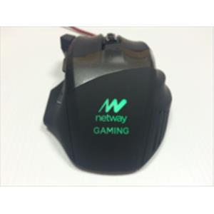 RATON NETWAY OPTICO GAMING VIRUS 2015 BLACK USB 2400DPI