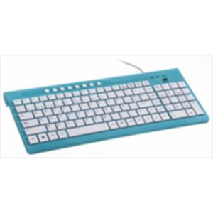 TECLADO NETWAY LOLLIPOP MULTIMEDIA AZUL