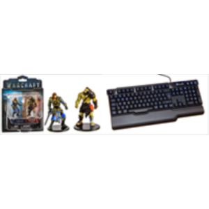 PACK TECLADO GAMING ANARCHY + FIGURAS WORLD OF WARCRAFT (SOLDIER VS HORDE)