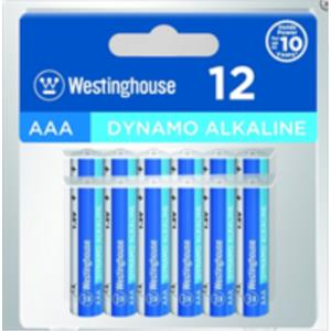 PACK PILAS ALCALINAS AAA LR03 WESTINGHOUSE 12 PCS