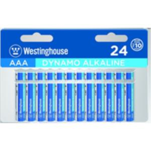 PACK PILAS ALCALINAS AAA LR03 WESTINGHOUSE 24 PCS