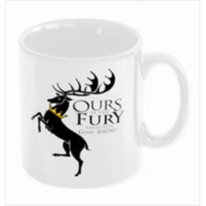 TAZA CERAMICA BARATHEON OURS IS THE FURY JUEGO DE TRONOS