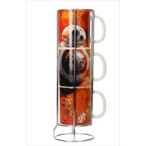 SET 3 TAZAS CERAMICA APILABLES BB-8 - DROIDES STAR WARS EP7