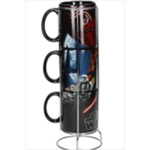 SET 3 TAZAS CERAMICA APILABLES BLACK FIRST ORDER STAR WARS EP7