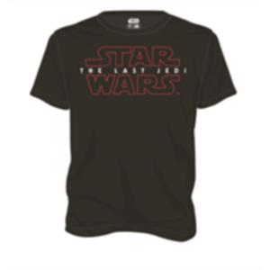CAMISETA NEGRA CHICO T-L LOGO THE LAST JEDI STAR WARS EP VIII