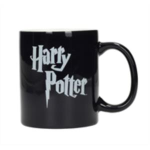 TAZA CERAMICA LOGO HARRY POTTER BLANCO Y NEGRO HARRY POTTER