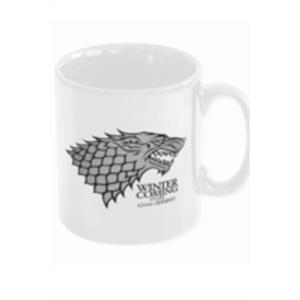 TAZA CERAMICA WINTER IS COMING STARK JUEGO DE TRONOS